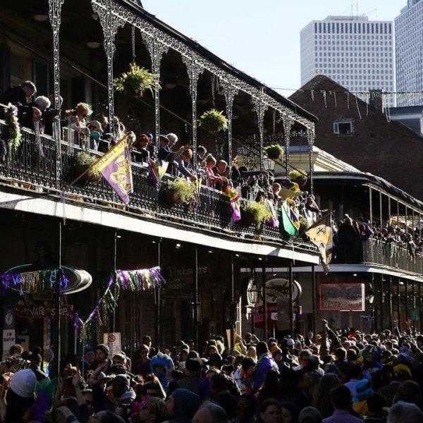Bourbon Street during 2016 Mardi Gras24819200-159532