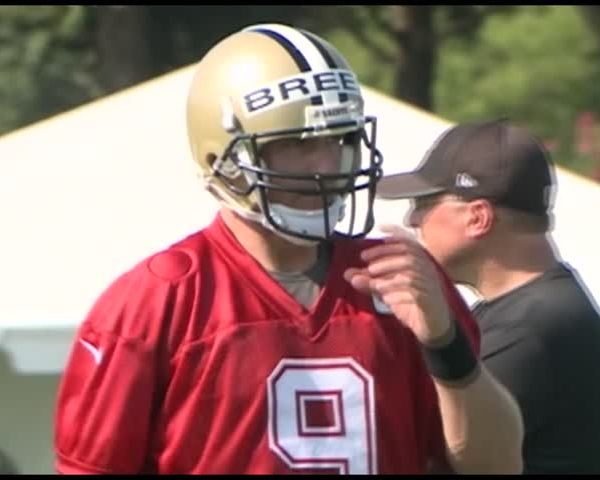 Drew Brees and Sean Payton talk first day of training camp_22887298