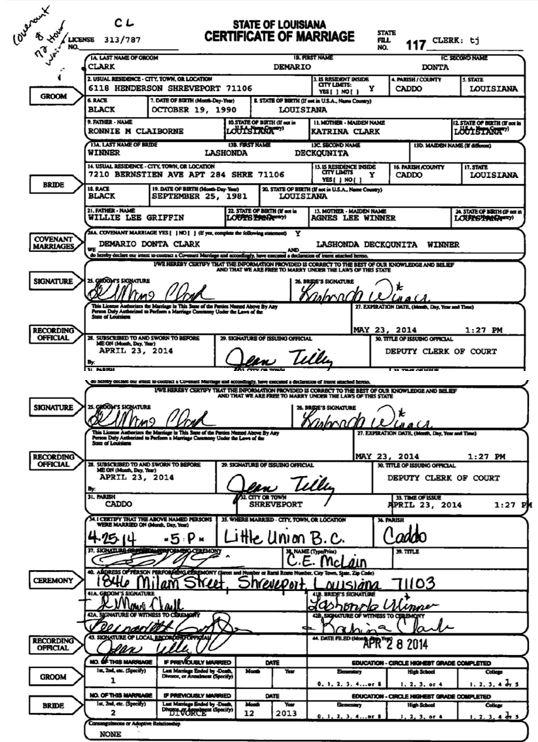 Marriage license Lashonda & Demario Clark 8-27-18_1535420125563.JPG.jpg