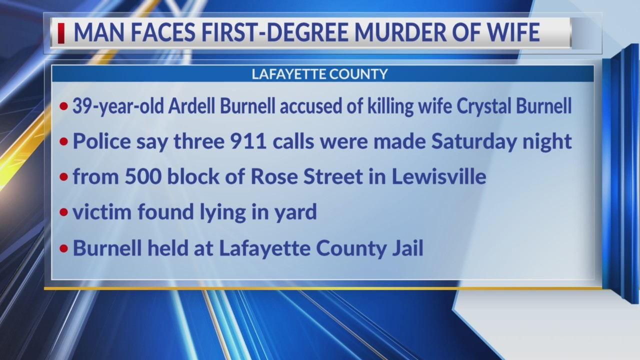 Lafayette County man accused of killing wife