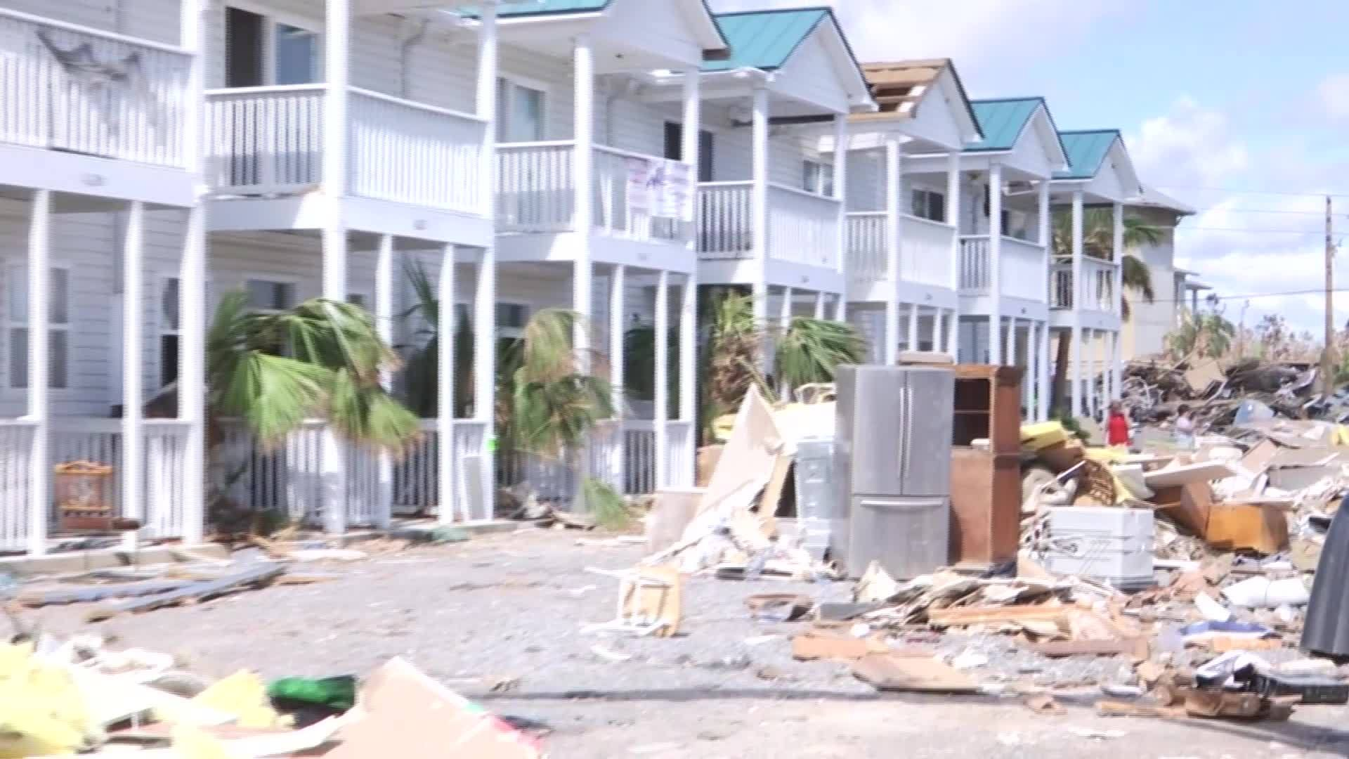 Cleanup efforts continue in Mexico Beach, FL