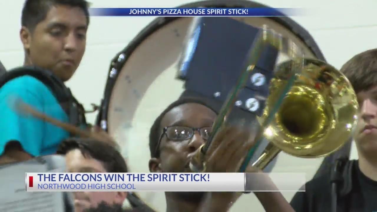 Falcons win the Spirit Stick
