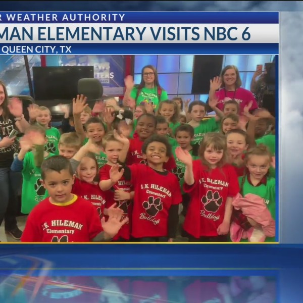 JK HIleman First Grade visits NBC 6