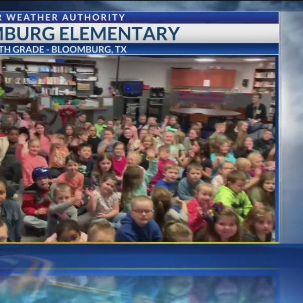 Todd Warren visits Bloomburg Elementary