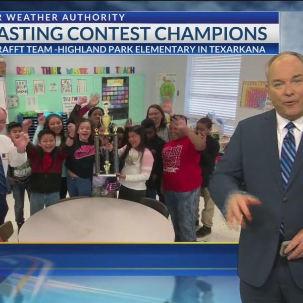 HIghland Park Elementary receives Weathernator Trophy