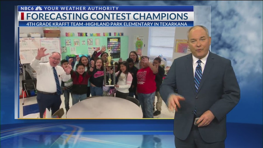 HIghland Park Elementary receives Weathernator Trophy