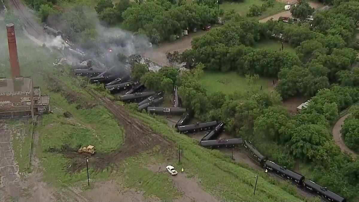Train cars carrying ethanol catch fire in Texas derailment_1556112634784.jpg.jpg