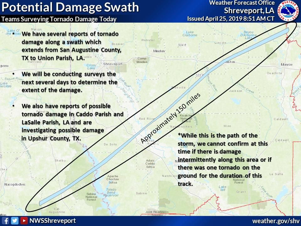 National Weather Service: At least an EF3 hit the City of Ruston