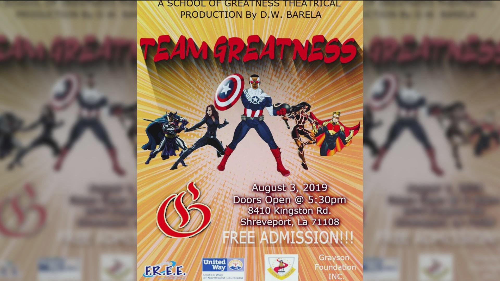 "Team Greatness"" stage play tonight in Shreveport   ArkLaTexHomepage"