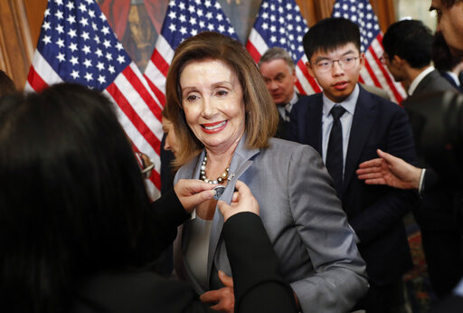 Nancy Pelosi, Joshua Wong, Denise Ho, Nathan Law,