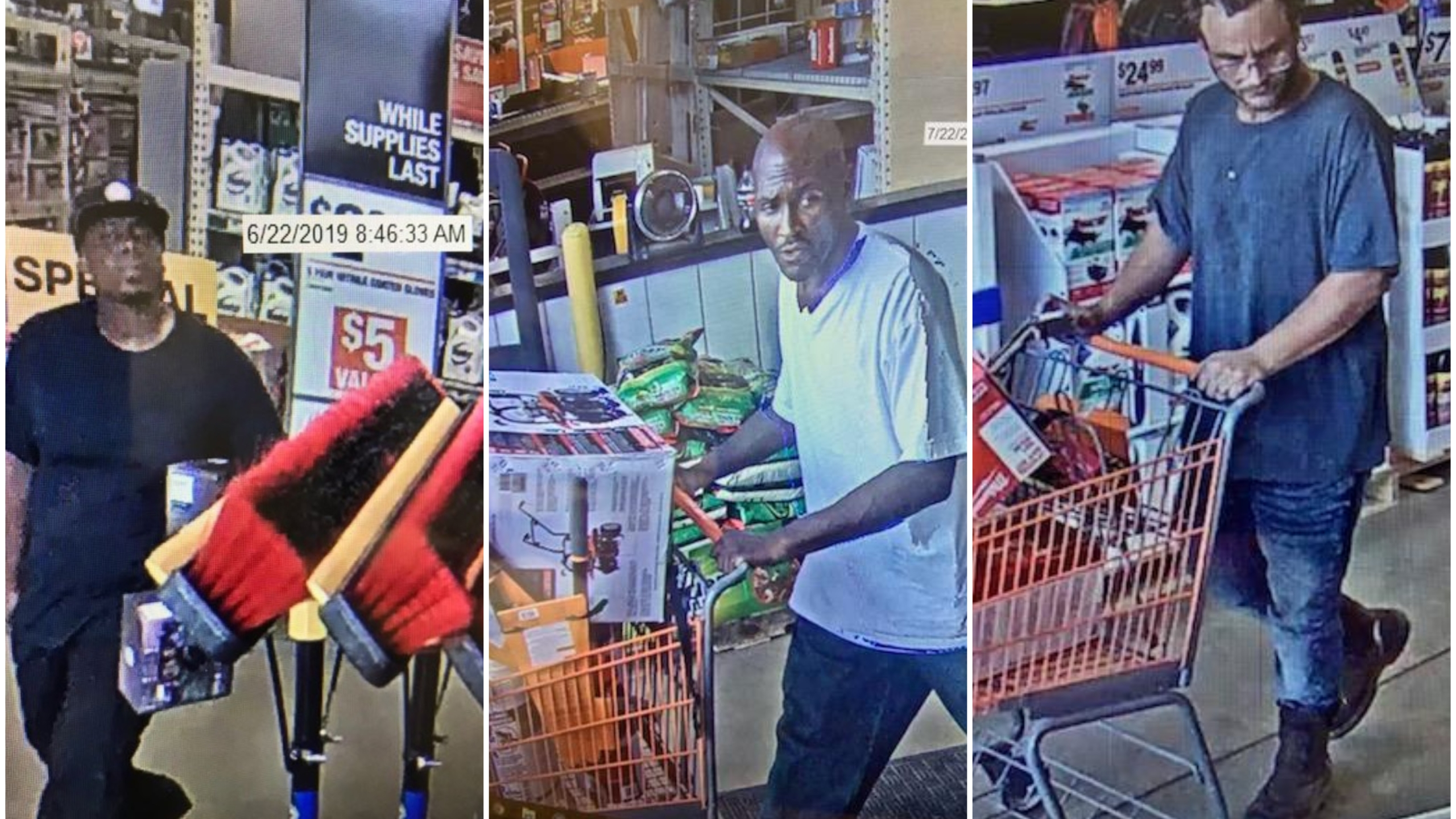 Spd Seeks Alleged Home Depot Thieves Caught On Camera