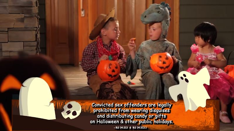 Trick or treating sex offender
