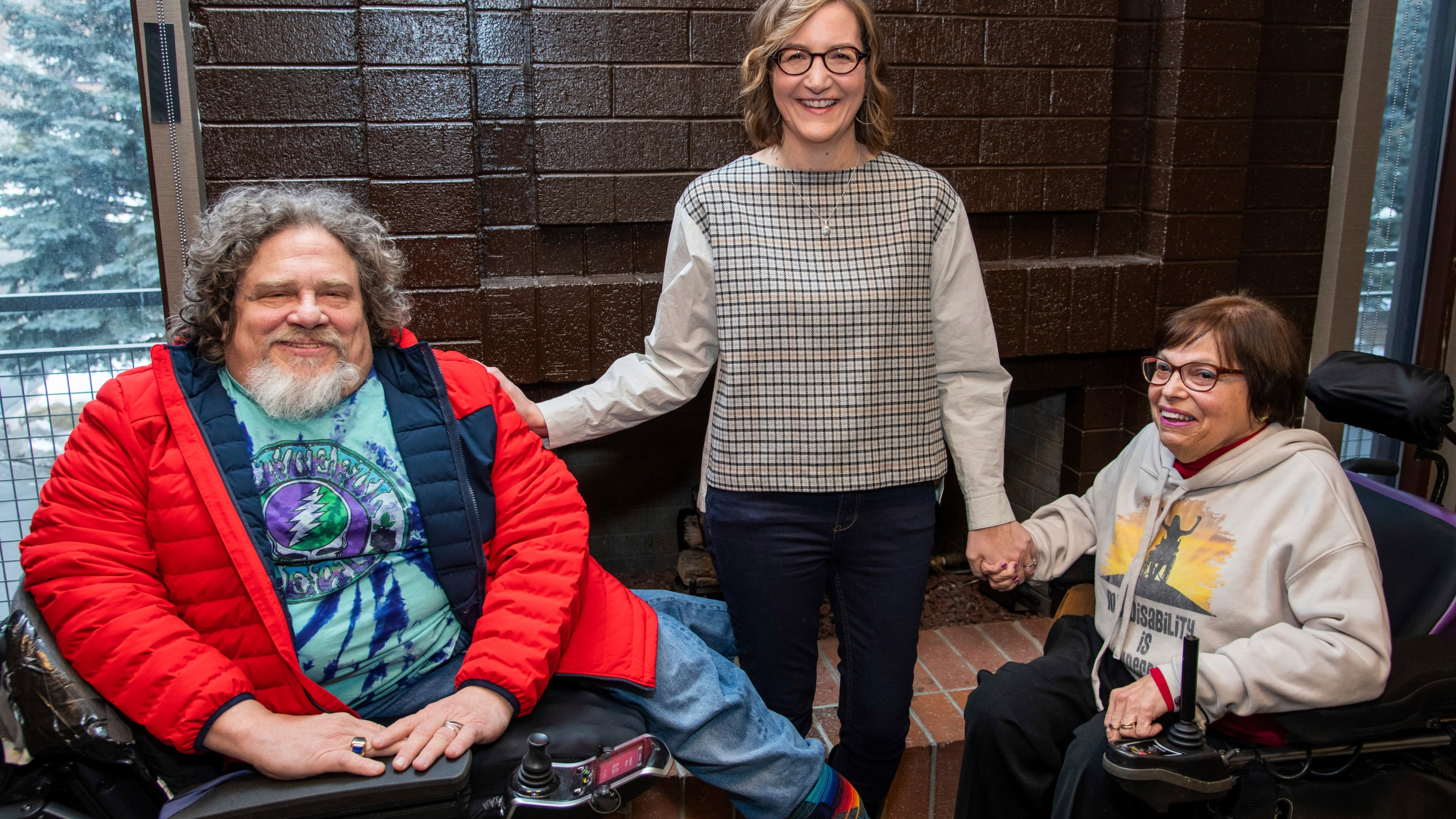Jim LeBrech, Nicole Newnham, Judith Heumann
