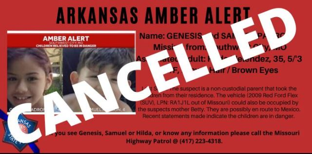 Amber Alert Canceled 8 Year Old Girl 4 Year Old Boy Found Safe In Oklahoma Arklatexhomepage