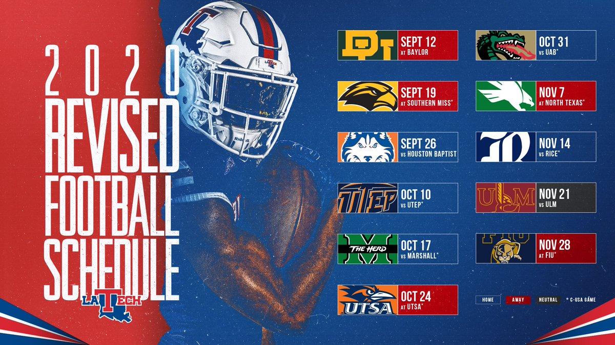 Louisiana Tech Unveils News 2020 Football Schedule Arklatexhomepage