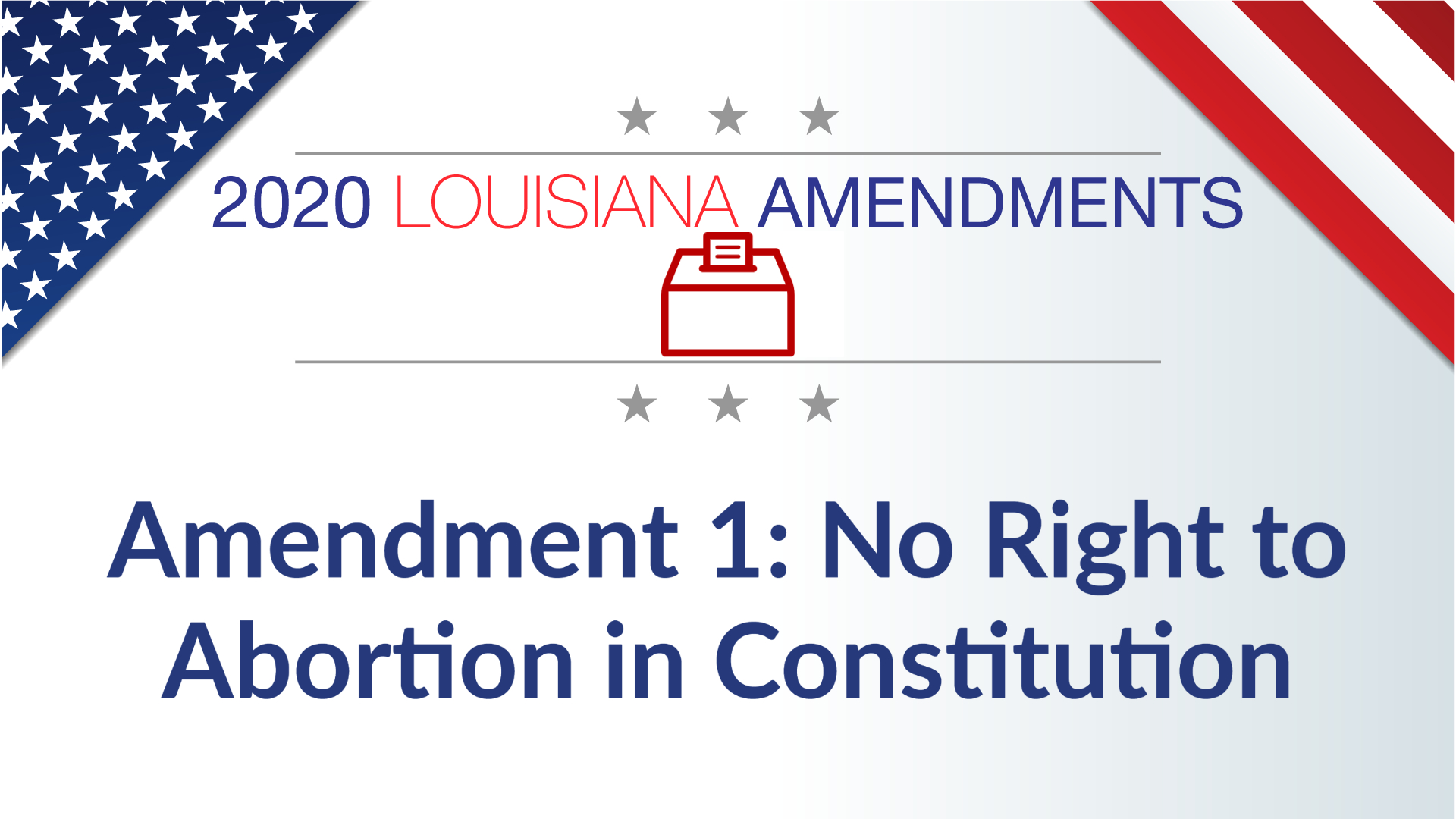 Louisiana Voters Pass Amendment to State Constitution Declaring Abortion Is Not a Right