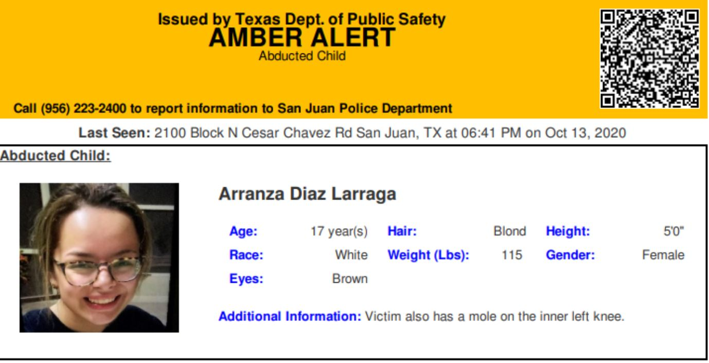 Amber Alert Issued For Abducted Texas Teen Arklatexhomepage