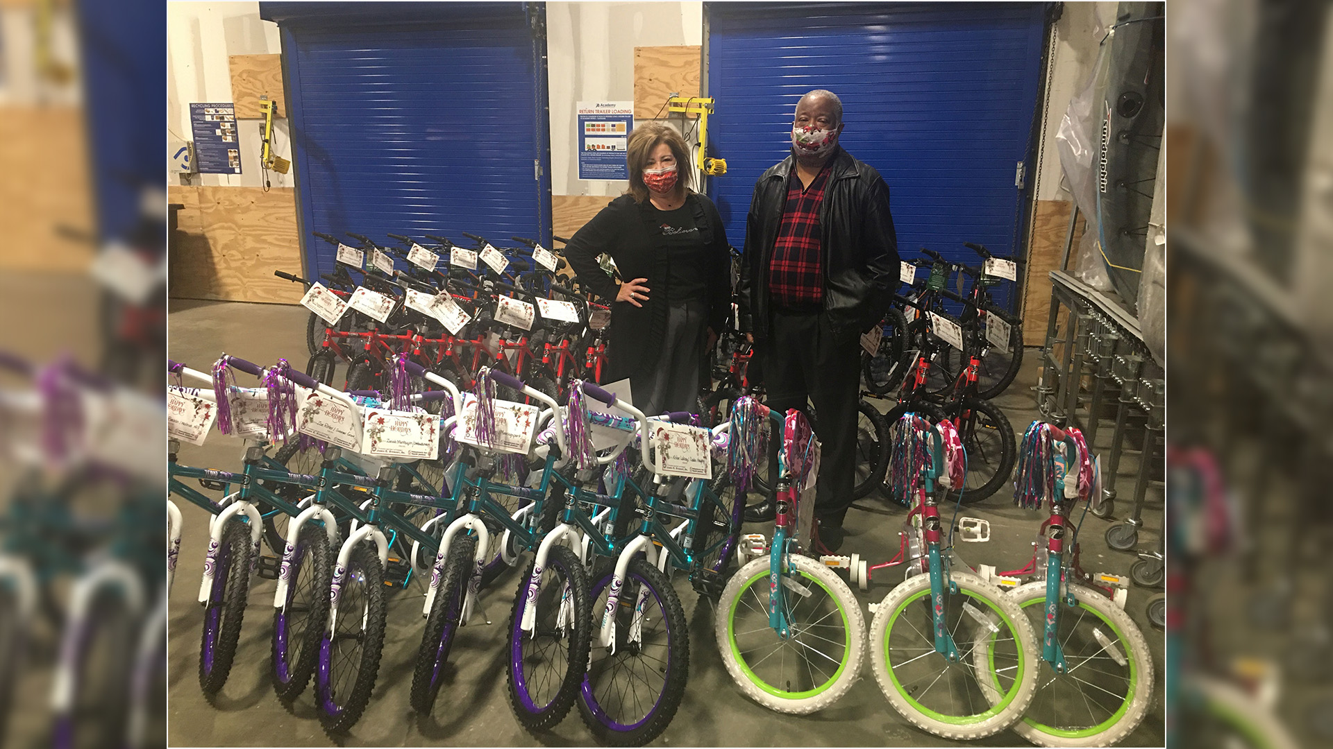Caddo DA partners with local businesses to give away bikes to