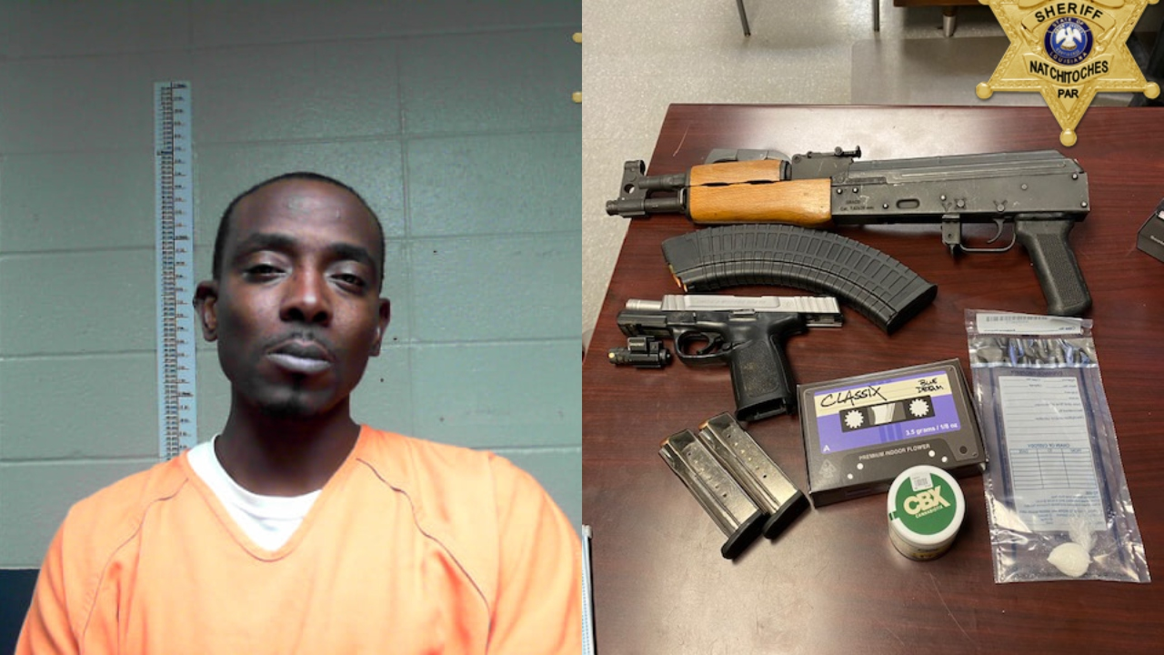 Shreveport Man Arrested On Drug Gun Charges After Traffic