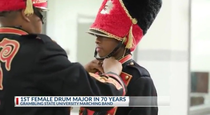 Grambling State University Names First Female Drum Major in Nearly 70 Years